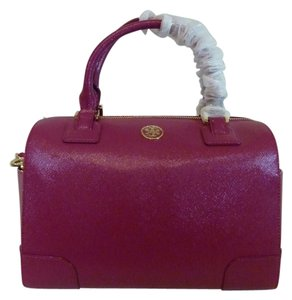 Tory Burch Satchel in Raspberry/Magenta