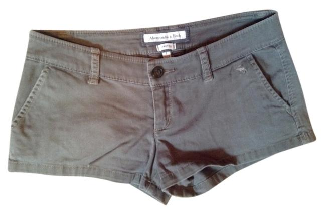 Abercrombie & Fitch & Twill Mini/Short Shorts Army cargo green