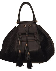 d8cebab46008 Added to Shopping Bag. Zac Posen Oversized Leather Beyonce Tassles Boho  Weekend Overnight Quilted Drawstring Hobo Bag