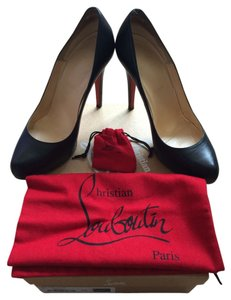 Christian Louboutin Rolando Kid Leather 120 Black Pumps