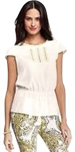 Ann Taylor Top Ivory/Yellow