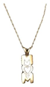 14k gold necklace & pendant MOM pendant Necklace