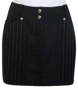 Dior Mini Skirt Black contrasted w/ white striping