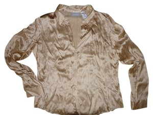 Liz Claiborne Button Down Shirt Gold