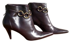 Michael Kors Italian Pointed Toe Chocolate Brown Boots