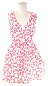 short dress White and Pink on Tradesy