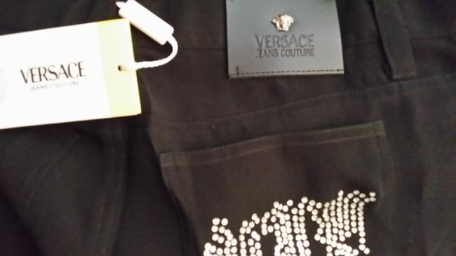 Versace Ladies Womens Coutore Slacks Couture Flare Pants black