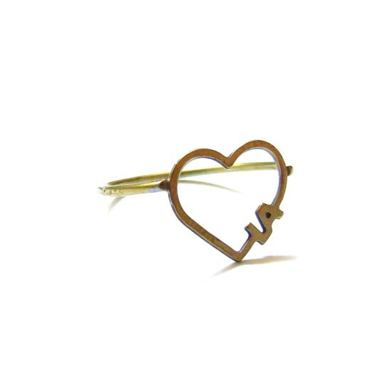 Elliot Francis Vintage LA open heart ring