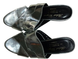 Robert Clergerie Patent Leather Wedge Silver Wedges