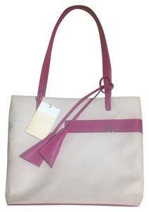 Bally Leather Fabric Tote in magenta