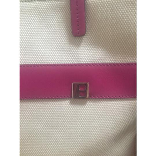 Bally Leather Fabric Tote in magenta Image 6