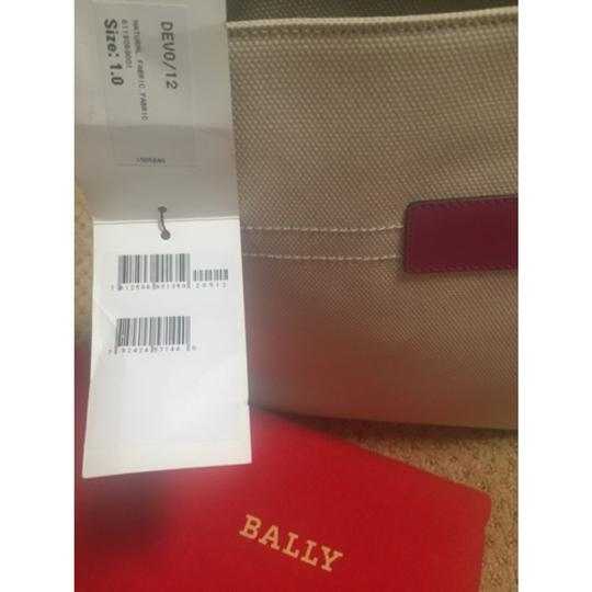 Bally Leather Fabric Tote in magenta Image 8