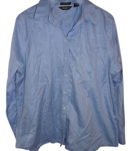 Eddie Bauer Button Down Shirt Light Blue