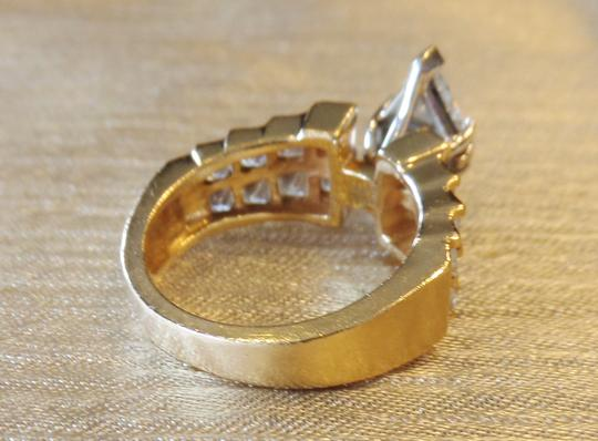 Other 3.42 Cts Triangle Diamond & 14K Gold Ring