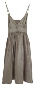 Topshop short dress Bronze Spaghetti Strap Triangle Top Metallic Flirty on Tradesy