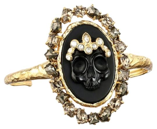 Preload https://img-static.tradesy.com/item/8105677/alexis-bittar-black-agate-cameo-cuff-w-crystal-studded-crown-and-pyrite-accent-new-with-tags-bracele-0-3-540-540.jpg