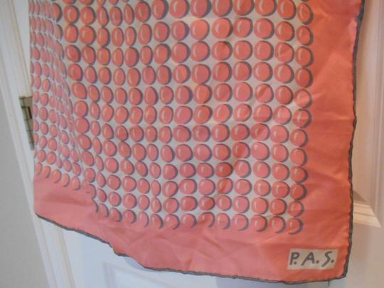 P.A.S. P.A.S. Vintage Designer Silk Hand rolled Scarf Geometric Large 22 x 22 Square