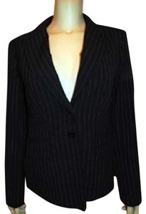 Victoria's Secret Body Jacket Size 8 BLACK PIN STRIPED Blazer