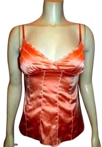 bebe Silk Size Small Top ORANGE