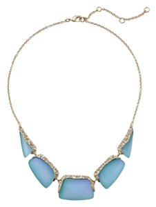 Alexis Bittar Alexis Bittar Blue Encrusted Articulated Bib Necklace New W/ Tags
