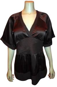BCBGMAXAZRIA Silk Size Medium Top BROWN