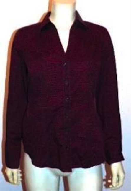 Express Small Burgundy Button Down Shirt MAROON