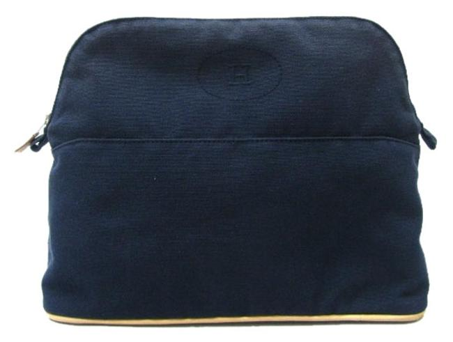 Item - Bolide Pouch Handbag Free Shipping Navy (Hardware: Silver) Canvas Weekend/Travel Bag