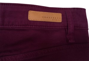 Sanctuary Clothing Soft Stretchy Skinny Pants Purple Plum Wine