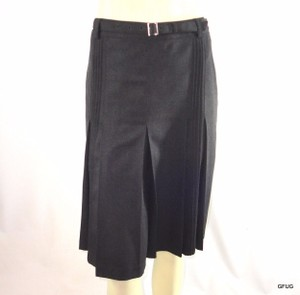 Anne Klein Pleated Career Suit Belted Sophisticated Skirt Gray