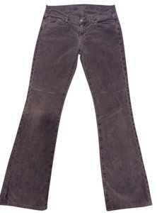 7 For All Mankind Corduroy Boot Cut Jeans-Distressed