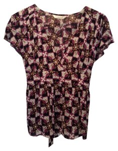 Silk Designer Top Floral pattern