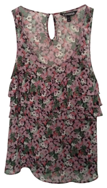Preload https://item5.tradesy.com/images/express-floral-pattern-blouse-size-2-xs-811384-0-0.jpg?width=400&height=650