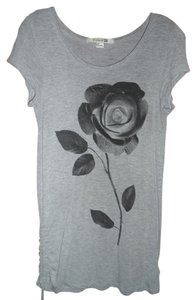 Forever 21 Rose Soft T Shirt grey