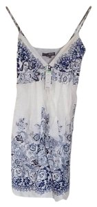 Boston Proper short dress Muse By Blue Floral Summer on Tradesy