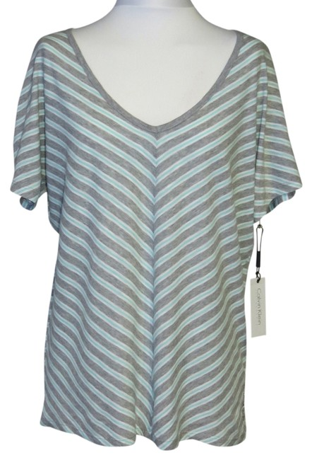 Item - Aqua/Gray/White New with Tags Medium Quick Dry Activewear Top Size 10 (M, 31)