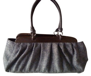 ALDO Tweed Two-tone Classic Satchel in black/White tweed