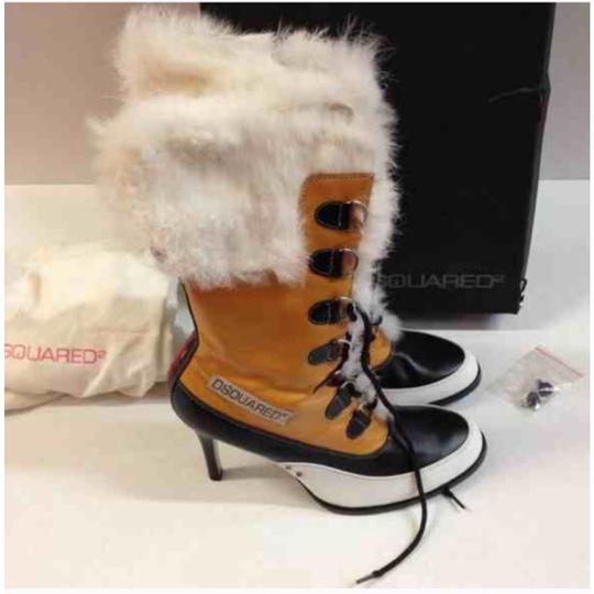 Dsquared2 Black Yellow Boots Image 1
