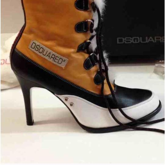 Dsquared2 Black Yellow Boots Image 3