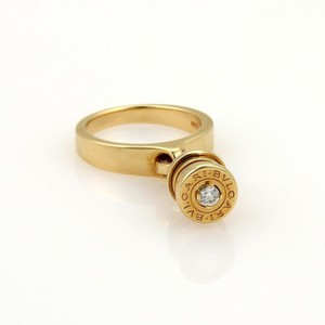 BVLGARI Bvlgari Bulgari B Zero-1 Diamond Drop Charm Band Ring 18k Gold Wcert.