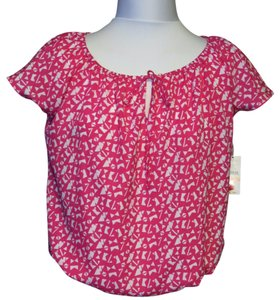Josephine Studio Top Pink/White