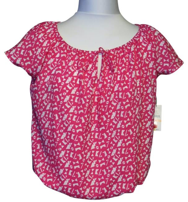 Preload https://img-static.tradesy.com/item/811786/pinkwhite-new-with-tags-small-blouse-size-petite-4-s-0-0-650-650.jpg