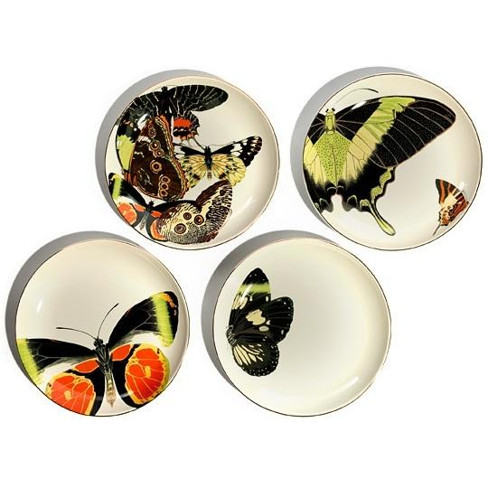 Preload https://img-static.tradesy.com/item/8118010/dl-and-co-white-butterfly-porcelain-plate-set-4-pc-fine-china-0-1-540-540.jpg