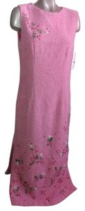 Pink Maxi Dress by Oilily & White Tweed With Silk/Lace Slip Size 10