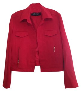 Ellen Tracy Linda Allard Jacket Red Blazer