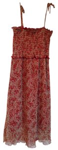 Jonathan Martin short dress Red Flowers on White Background on Tradesy