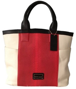 Christian Lacroix Tote in Ivory, Red