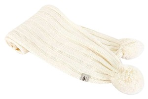 UGG Australia Women's Ugg Australia Knit Winter Scarf with Pom Pom - Cream