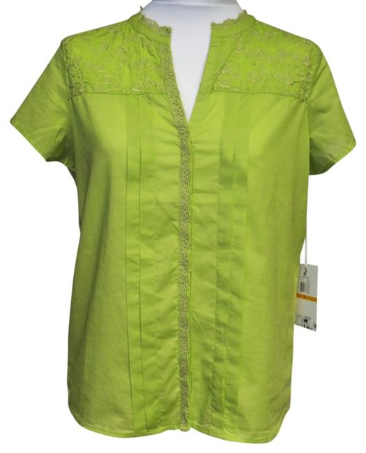 Preload https://img-static.tradesy.com/item/811924/caribbean-joe-lime-new-with-tags-small-blouse-size-6-s-0-0-650-650.jpg