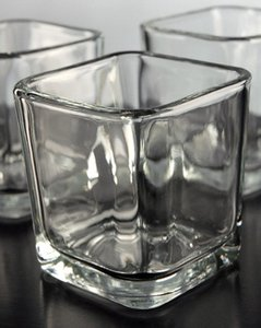 Eastland Clear 4x4 Square Holders Glass Votive/Candle