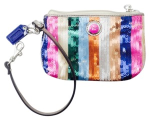 Coach Coach Multi Color Sequin Wristlet Wallet
